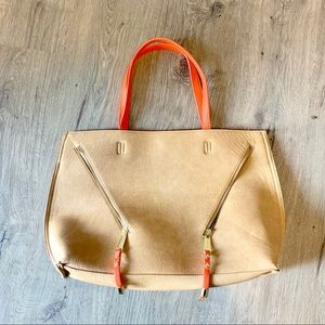 STEVE MADDEN brown and orange tote